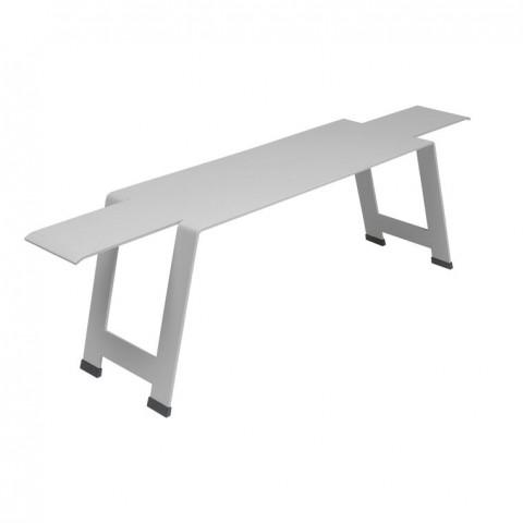 Origami bench in Steel Grey
