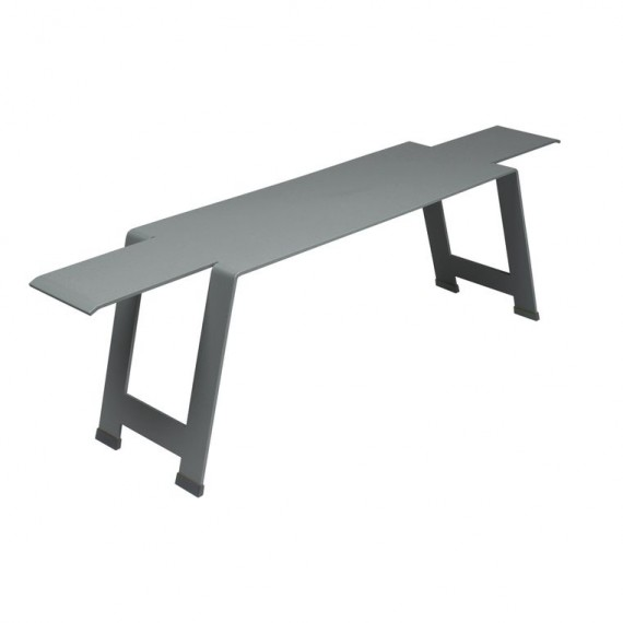 Origami bench in Storm Grey