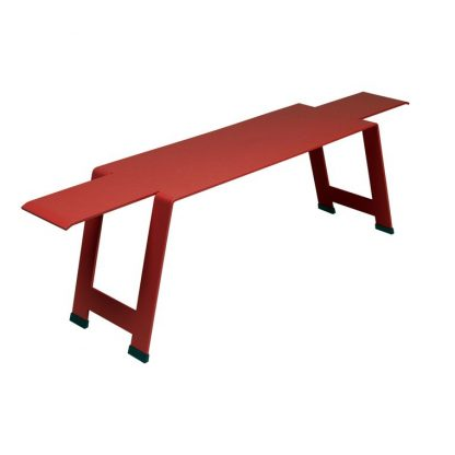 Origami bench in Poppy