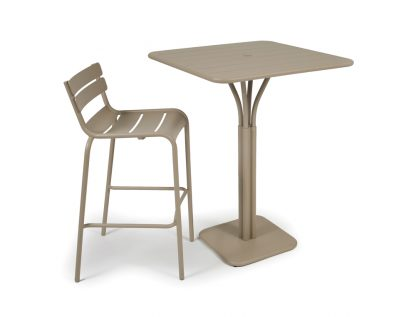 Luxembourg high stool and high table in Nutmeg