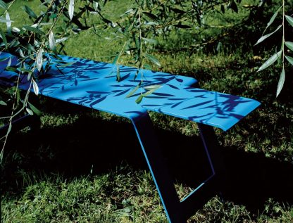 Origami bench in Turquoise