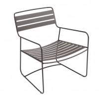 Surprising low armchair in Russet
