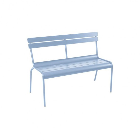 Luxembourg stacking bench in Fjord Blue