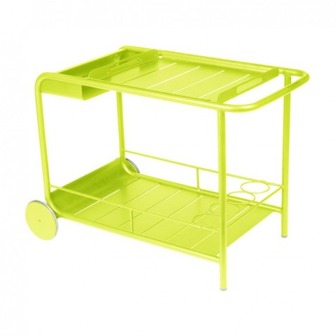 Luxembourg side table/drinks trolley in Verbena