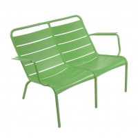 Luxembourg low armchair Duo in Grass Green