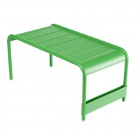 Luxembourg long low table/garden bench in Grass Green