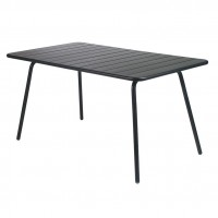 Luxembourg table 143×80 in Liquorice