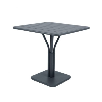 Luxembourg pedestal table in Storm Grey