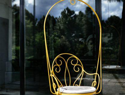 Montmartre hanging armchair in Honey