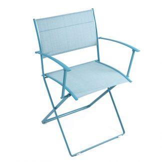 Plein Air armchair in Turquoise Blue