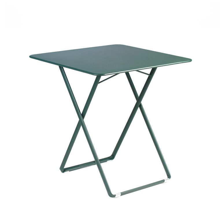 plein air square table by fermob and available from le. Black Bedroom Furniture Sets. Home Design Ideas
