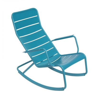 Luxembourg rocking chair in Turquoise
