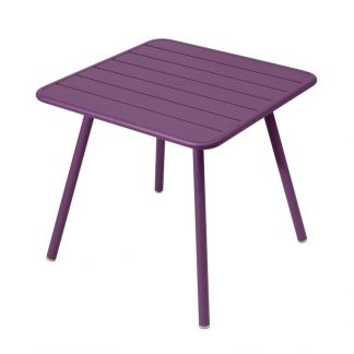 Luxembourg square table in Aubergine