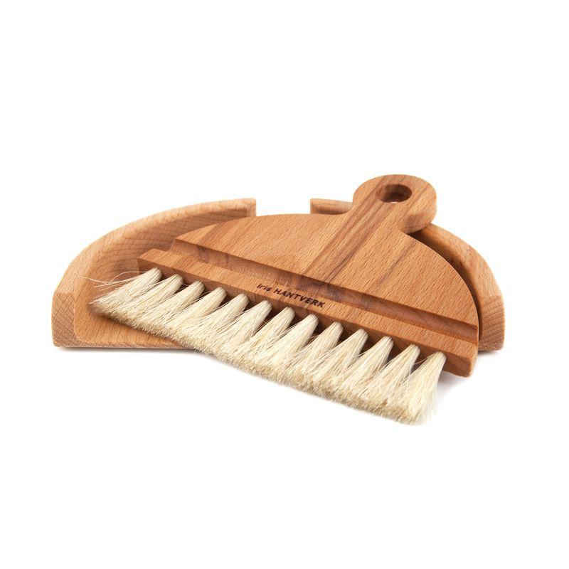 Table brush: oil treated beech, horsehair