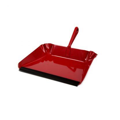 Red metal dust pan