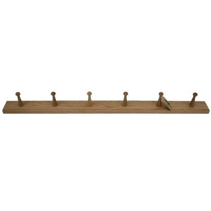 Oak six peg rail