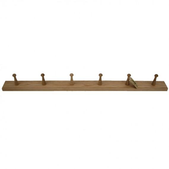 Oak six peg rail