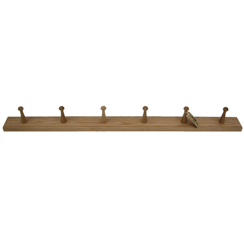 Oak Shaker six peg rail