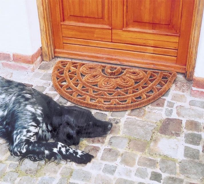 Half moon doormat (dog not included)