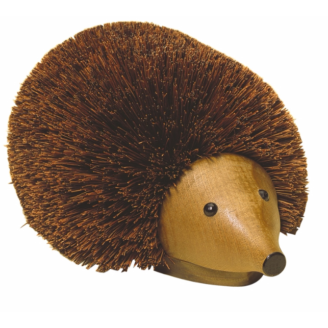 Hedgehog Boot Brush Wood And Bristle Cute Brush From Le