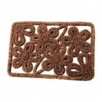 Rectangular flower doormat