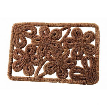 Rectangular flower doormat