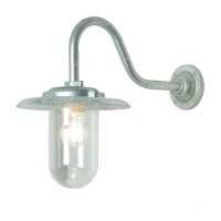 Exterior swan neck bracket light