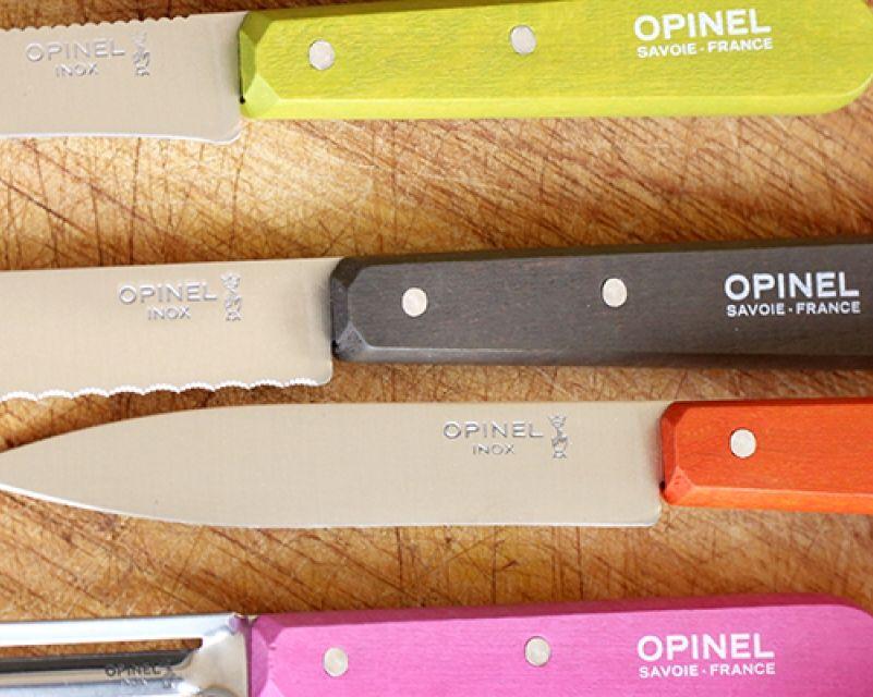 Opinel Kitchen Essentials knife set in Fifties