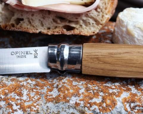 Opinel No. 6 knife in oak wood