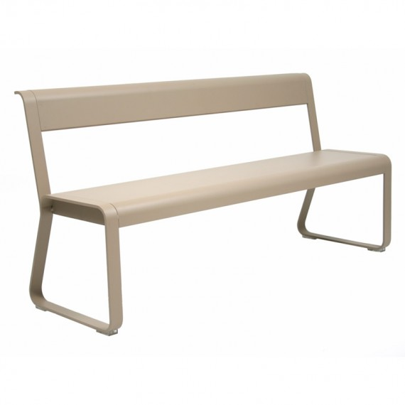 Bellevie bench with backrest in Nutmeg