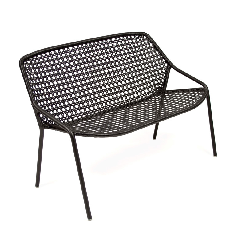 Croisette bench in Liquorice