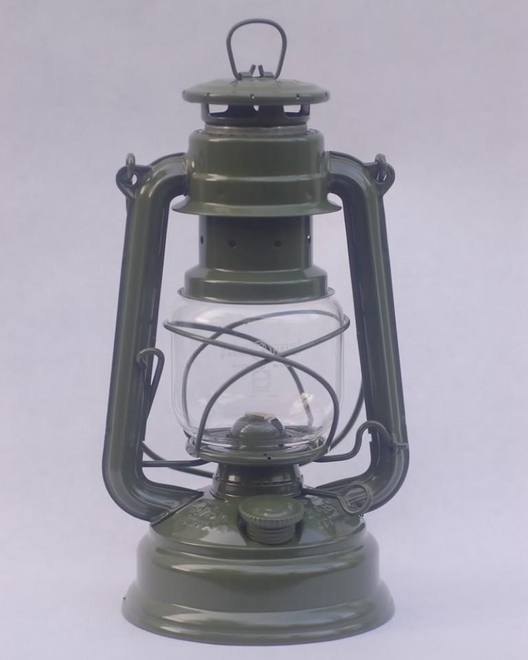 Feuerhand hurricane lantern in Olive