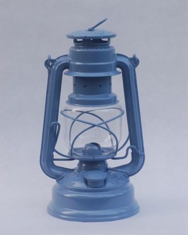 Feuerhand hurricane lantern in Breton Blue