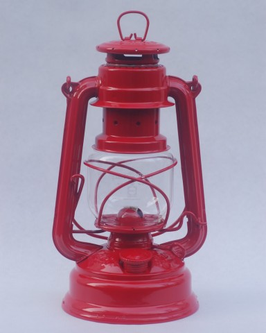 Feuerhand hurricane lantern in Fire Red