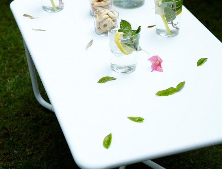 Croisette low table in Cotton White