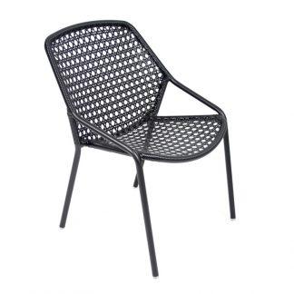 Croisette armchair in Liquorice