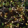 Tiny rice lights, LED lights shaped like rice grains on silver wire