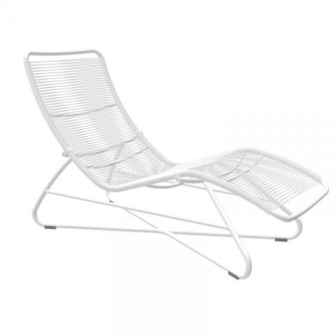 Saint Tropez superlounger in Cotton White frame & woven seat
