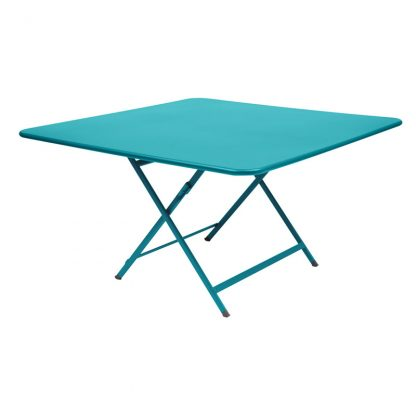 Caractère table in Turquoise Blue