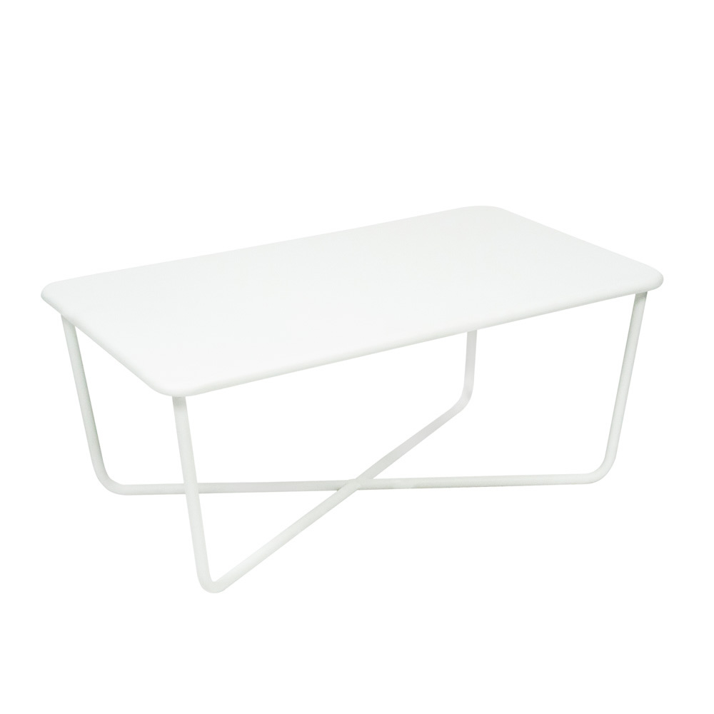 Beautiful table basse jardin metal blanc images awesome for Habitat table basse