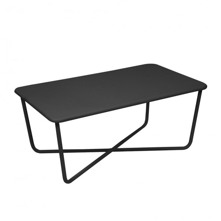 Croisette low table in Liquorice