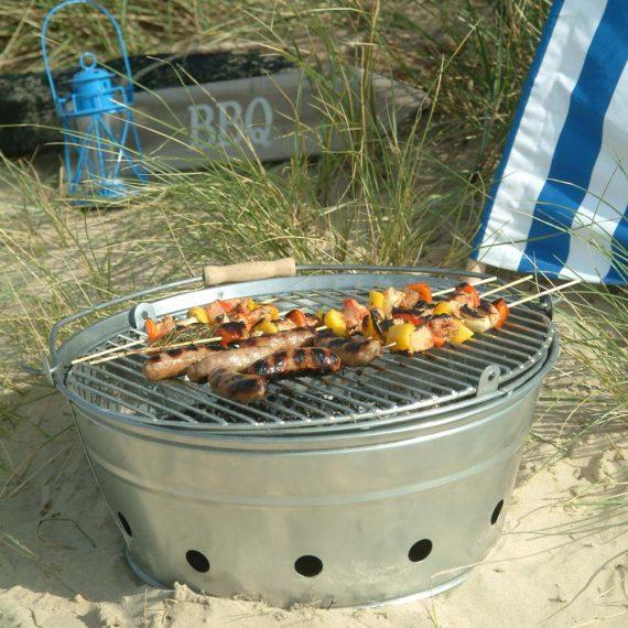 Rock barbecue bucket