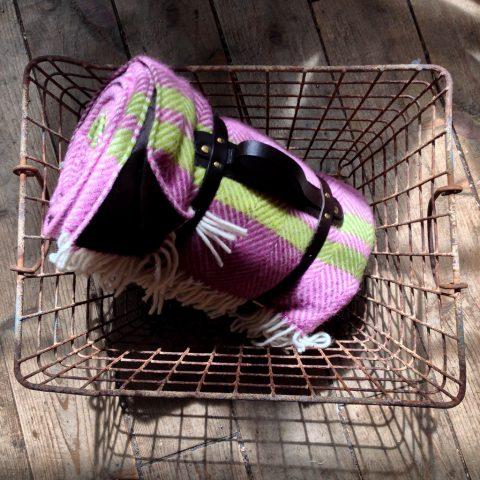 Mulberry & Apple fishbone weave picnic blanket