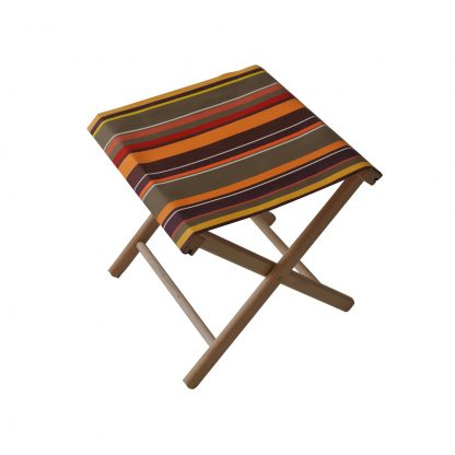 Fishing stool in Petit St Laurent de Cerdans fabric