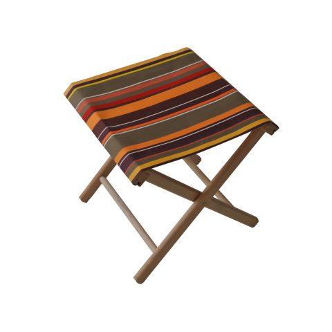 Fishing stool in Petit St Laurent de Cerdans fabric