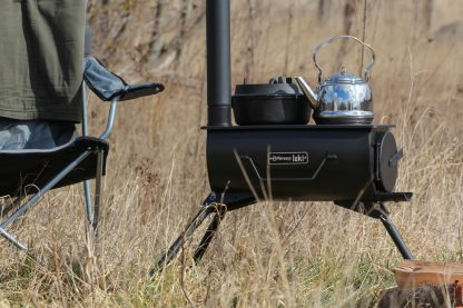 The Loki stove is portable and can be set up anywhere you fancy