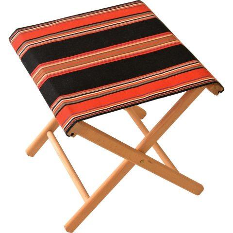 Fishing stool in Jules Noir et Tomette fabric