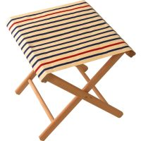 Fishing stool in Marin Ecru Marine fabric
