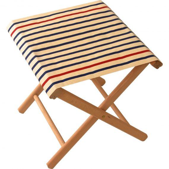Fishing stool in Marin Ecru Marine fabric
