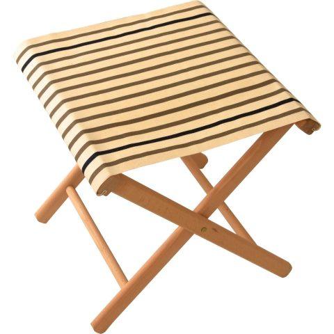 Fishing stool in Marin Ecru Taupe fabric